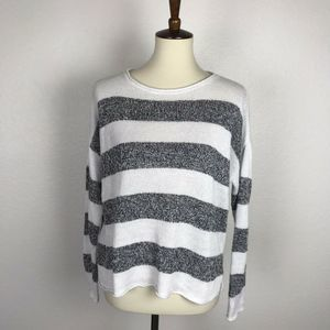Eileen Fisher Pullover Stripe Linen Sweater